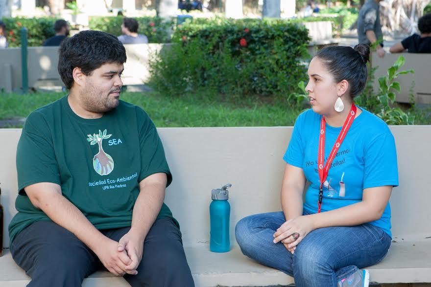Andrés Dávila y Coral Avilés de la Sociedad Ecoambiental.