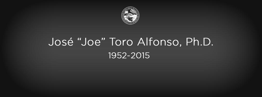 Deceso del Dr. José Toro Alfonso
