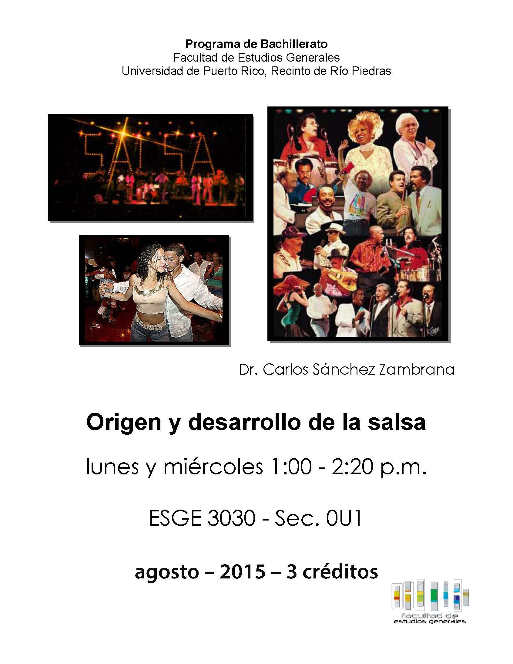 ESGE 3030  Bachillerato Origen y desarrollo dela Salsa 2015
