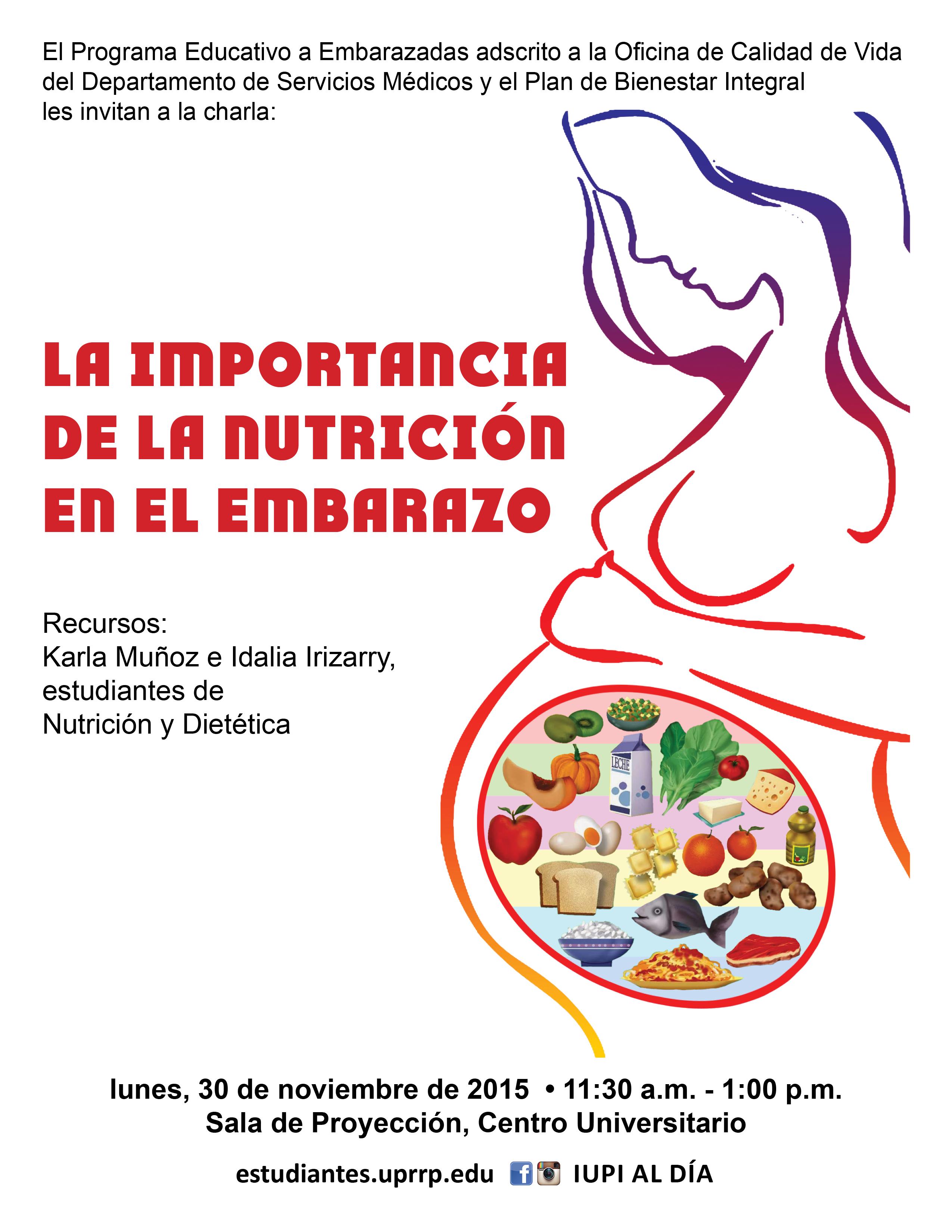 La importancia de la nutrici n en el embarazo for La oficina importancia