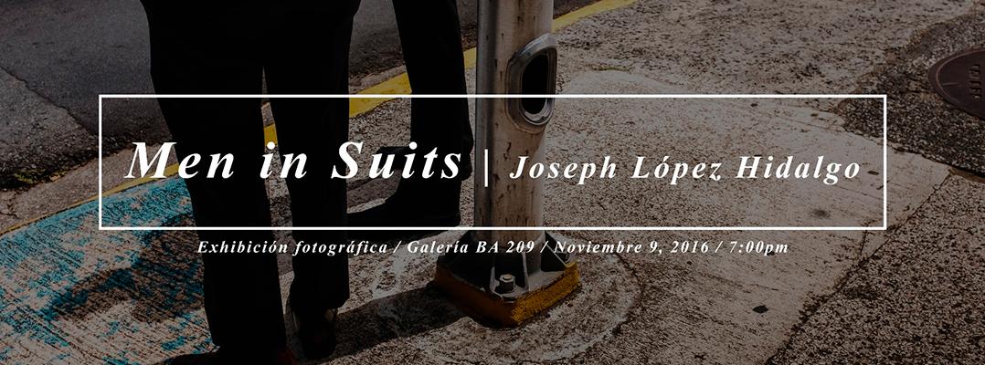 Hombres en Traje en la serie fotográfica de Joseph López Hidalgo