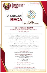 ORIENTACIÓN DE BECA FORD FOUNDATION