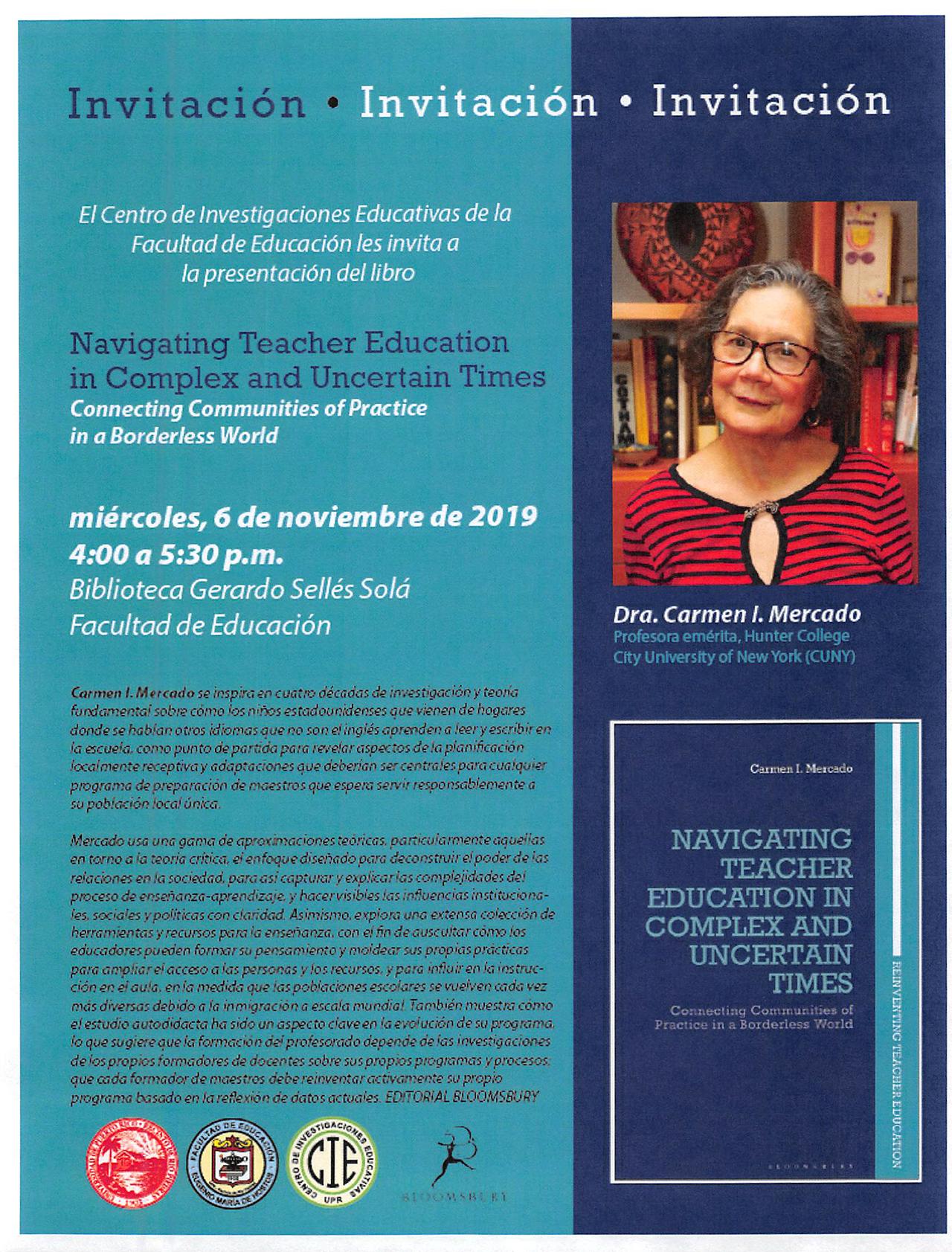 Presentación del libro Navigating Teacher Education in Complex and Uncertain Times @ Biblioteca Gerardo Sellés Solá