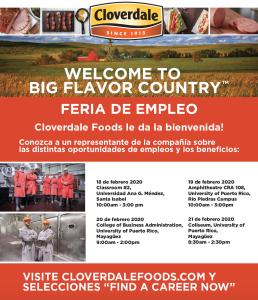 Sesión informativa y de reclutamiento de Cloverdale Foods.
