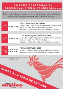 Taller: Entrevistas de Trabajo, Salon 3123, Plaza Universitaria - Torre Central