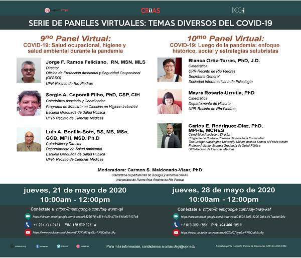 9no Panel Virtual Covid-19: Salud Ocupacional, Higiene y Salud Ambiental Durante la Pandemia
