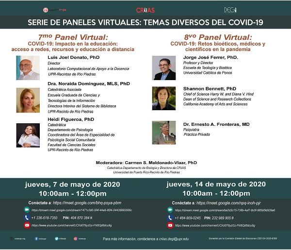 7mo Panel Virtual COVID-19: Impacto en la educación: acceso a redes, recursos y educación a distancia