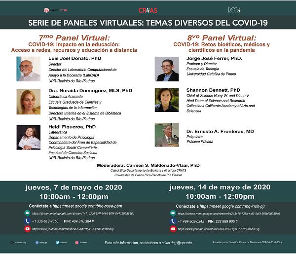 8vo panel virtual covid-19: retos bioéticos, médicos y científicos en la pandemia
