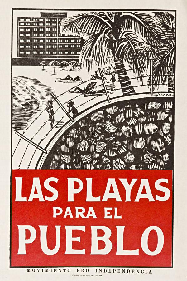 Cartel Las Playas son del Pueblo