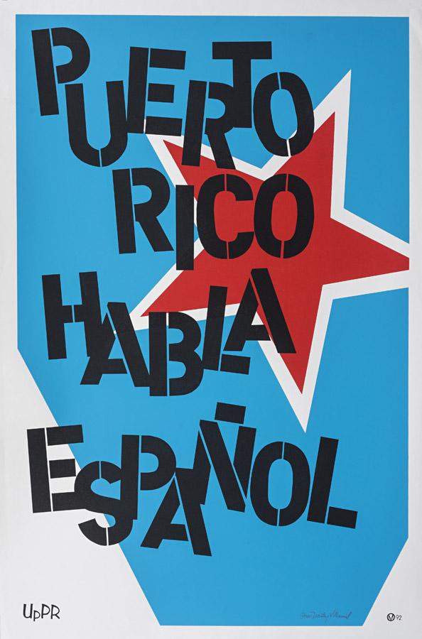 Cartel Puerto Rico Habla Español